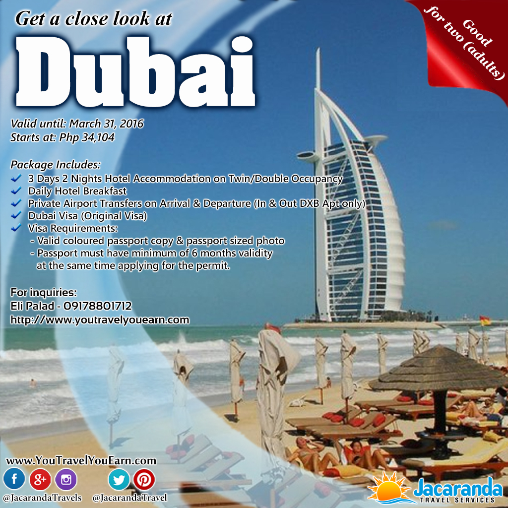 special dubai travel package for Filipinos