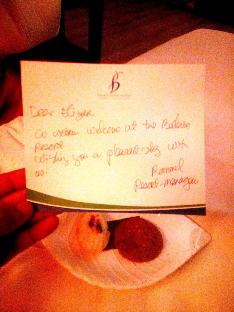 handwritten welcome message